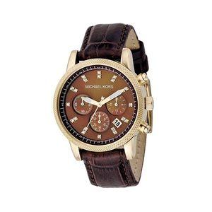 Michael Kors Leather Quartz Chronograph Watch